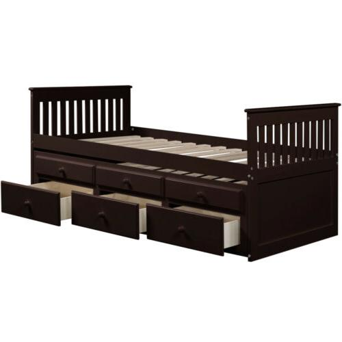 Captain's Twin Daybed w/Trundle 6 Storage Drawers