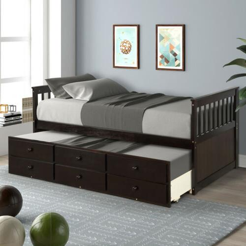 Captain's Daybed w/Trundle and 6 Storage