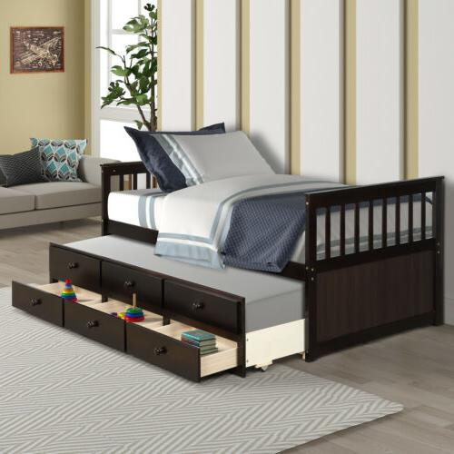 Captain's frame Daybed Bed 6 Drawers