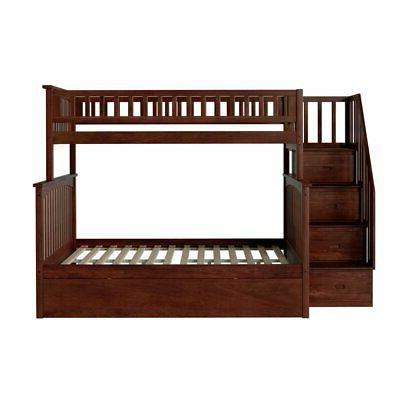 Atlantic Furniture Twin Over Staircase Bunk