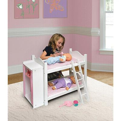 Badger Basket Doll Bunk Bed With Armoire Dollhouses And Furn