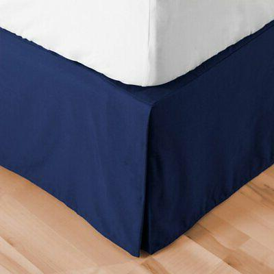 double brushed microfiber bed skirt by
