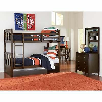 hillsdale pulse twin over twin bunk chocolate