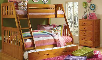 Discovery World Furniture Honey Twin over Full Mission Bunk
