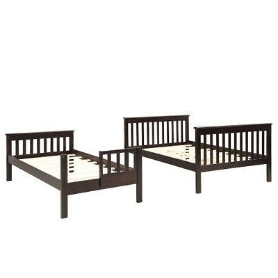 Kids Stairway Twin-Over-Full Bunk Bed Trundle,Storage,Guard