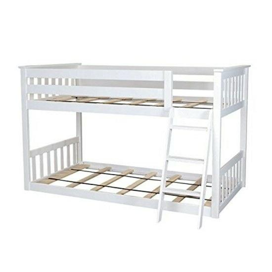 Low Bunk Bed For Kid Twin Bunked Ladder