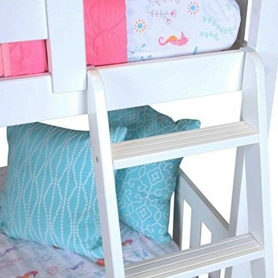 Low Bunk For Kid Toddler Solid Wood Twin Bunked Jr