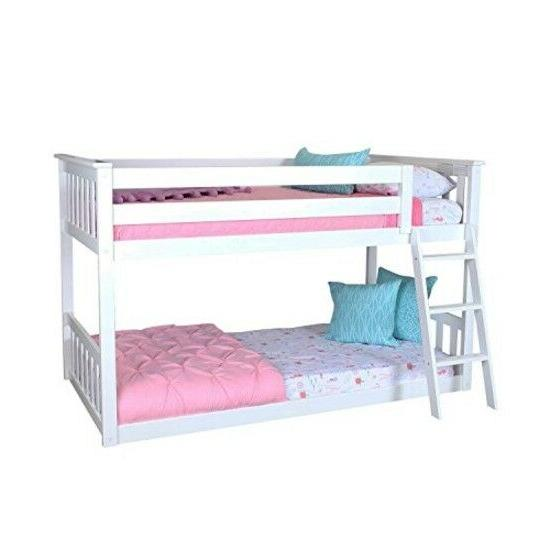 low bunk bed for kid toddler solid