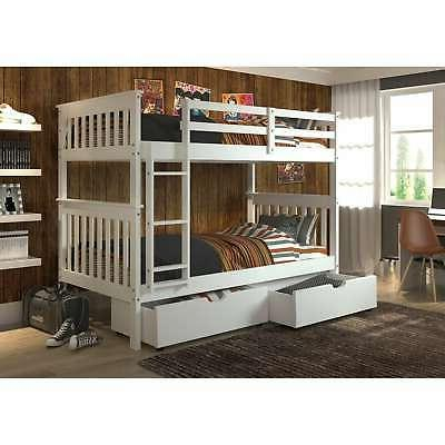 Donco Kids Mission over Twin Bunk with Trundle twin