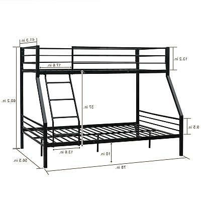 New Style Twin Over Twin Bed with Ladder for Adult