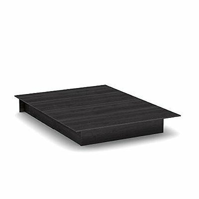 South Full/Queen Platform Bed drawers, Gray