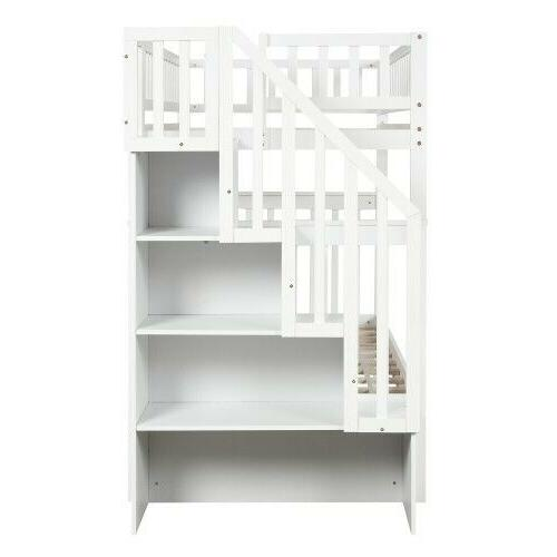 Personality Twin Twin Bunk Bed with and Storage