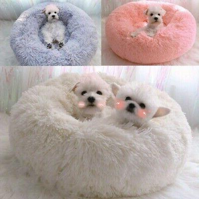 Pet Bed For Newborn Cats Puppy Small Dogs Round Cuddler Plus