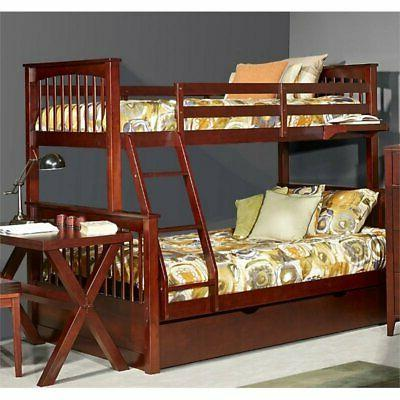 pulse twin over full slat bunk bed