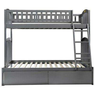 Atlantic Furniture Richland Over Full Bed in Gray