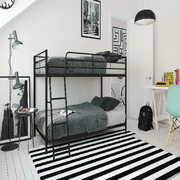 small space twin over twin bunk bed