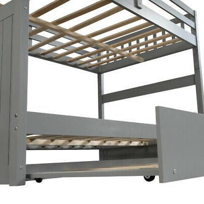 Full Full Bunk Bed Trundle Bunk and Storage