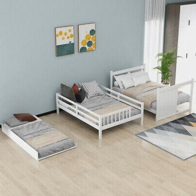 Full Bunk Bed with Trundle Bunk and Storage