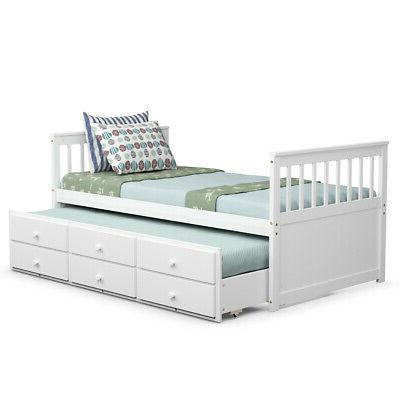 Twin Bunk Bed & White