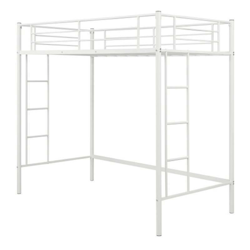 Twin Bunk Bed Metal Bunk Boys Bedroom White 97k