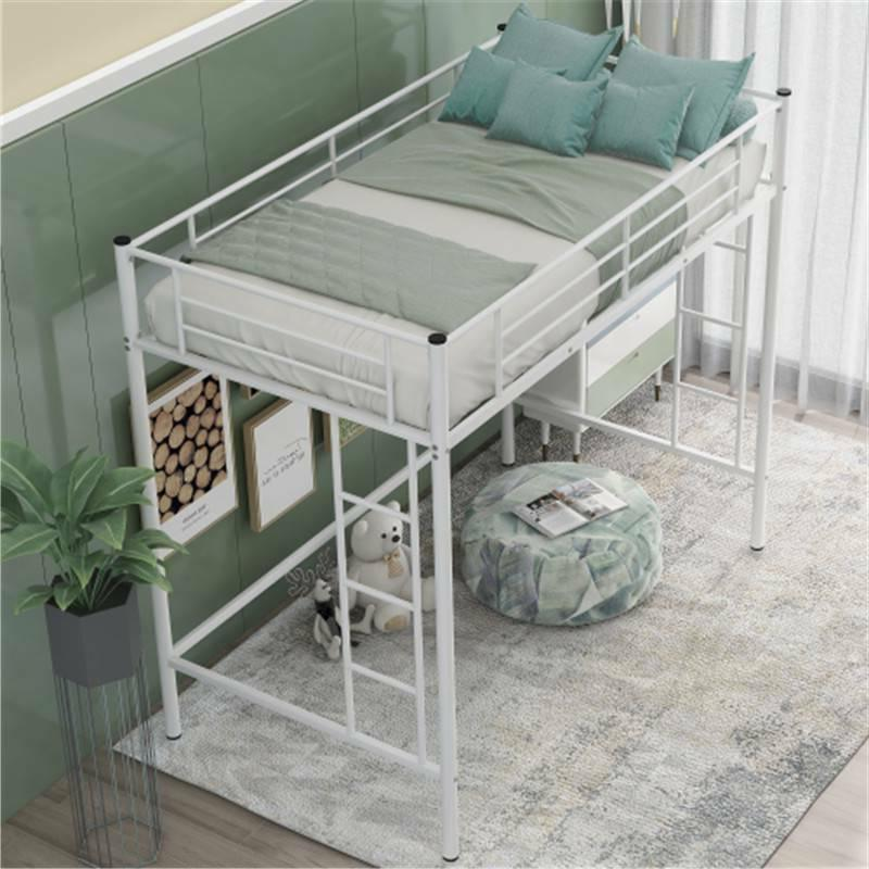 Twin Loft Metal Ladder Bunk Beds Boys Teens Bedroom 97k