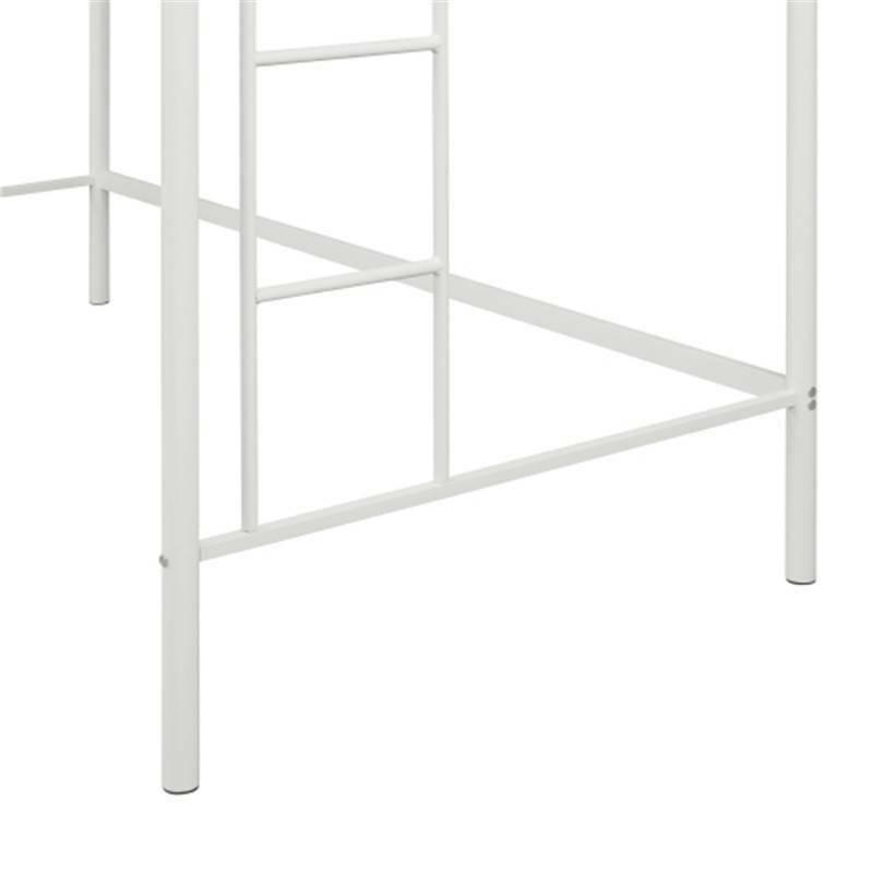 Twin Bunk Metal Ladder Boys and Bedroom White
