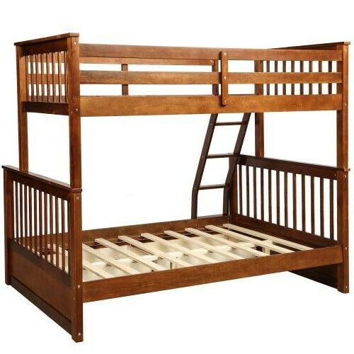 Twin-Over-Full Bunk Bed with Ladders Storage Drawers