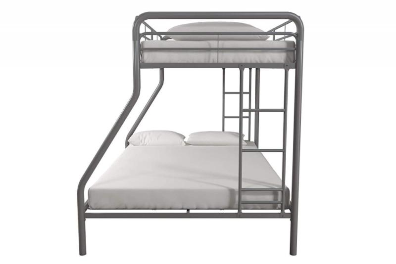 DHP Twin-Over-Full with Frame and Ladder, Space-Saving Design,