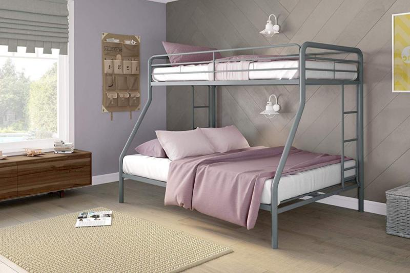 twin over full bunk bed with metal