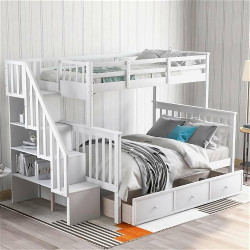 stairway twin over full bunk bed