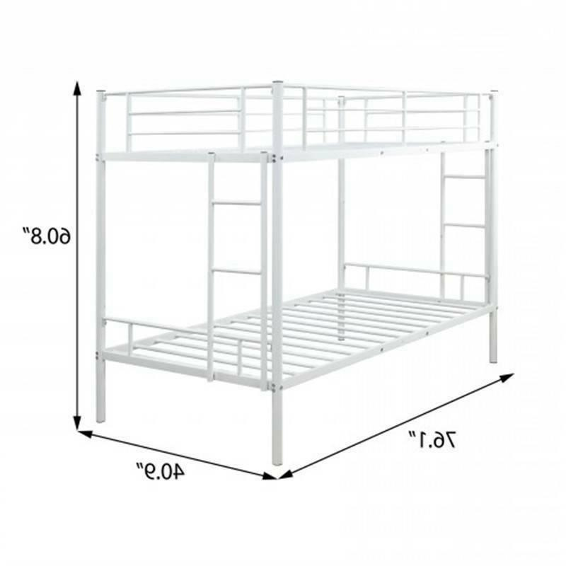 Twin Bunk Bed Boys&Girls Home Furniture White @cy