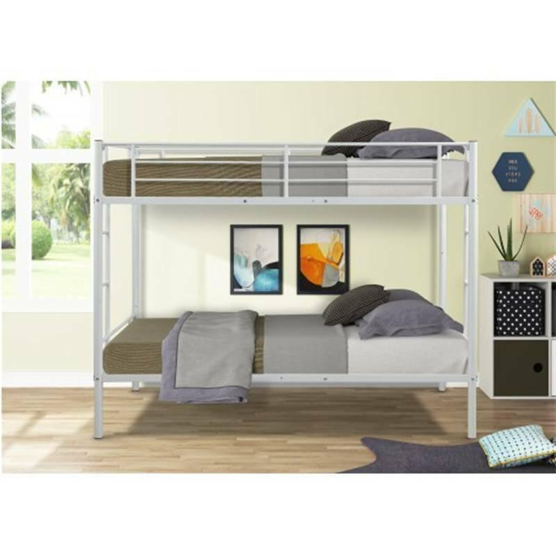 twin over metal bunk bed w two