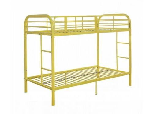 Acme Furniture Bunk Bed Frame and Ladder, Yellow