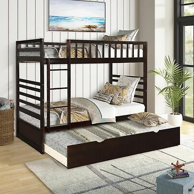 Twin Bed Wood Bed Trundle
