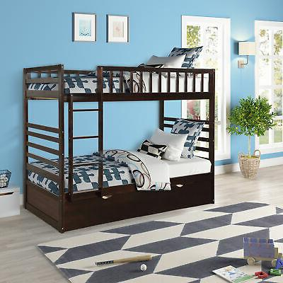 twin over twin bunk bed wood frame