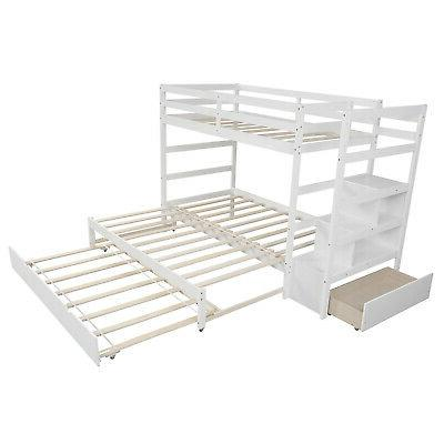 Twin over Full Bunk with Bunk Bed Frame and