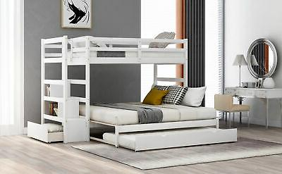 Twin Stairway Bunk Trundle Bunk and