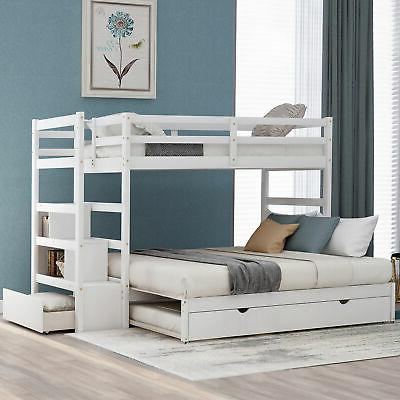 Twin Full Bunk with Bunk Frame w/Rails and