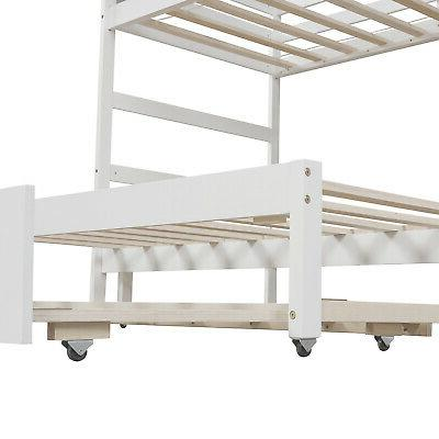 Twin over Full Stairway Bunk and