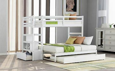 Twin Bunk Bed Trundle and
