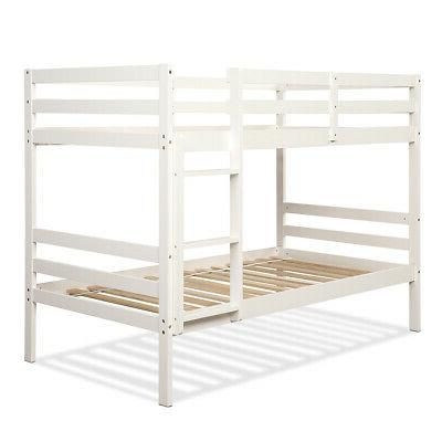 Wood Twin Bunk Bed Twin Bunk Beds for Kids with Ladder and S