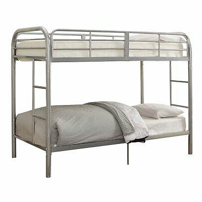 twin size bunk bed silver full length
