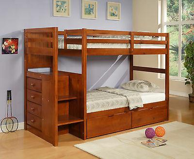 Twin/Twin Bunk Bed Donco Kids - Wood w/Storage Chest
