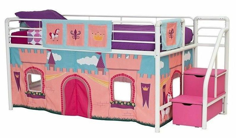 White Bunk For Girls Jr With Toy