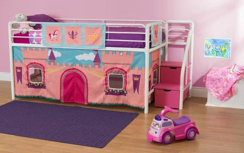 white loft bunk bed for girls twin