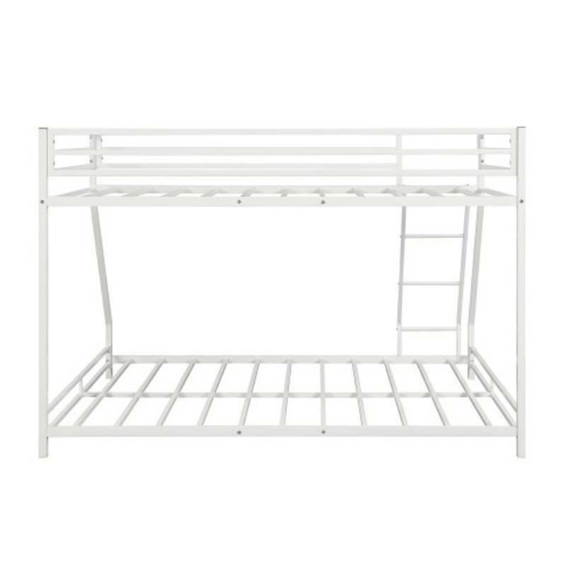 White Bunk Twin Full Floor Bunk Frame Beds