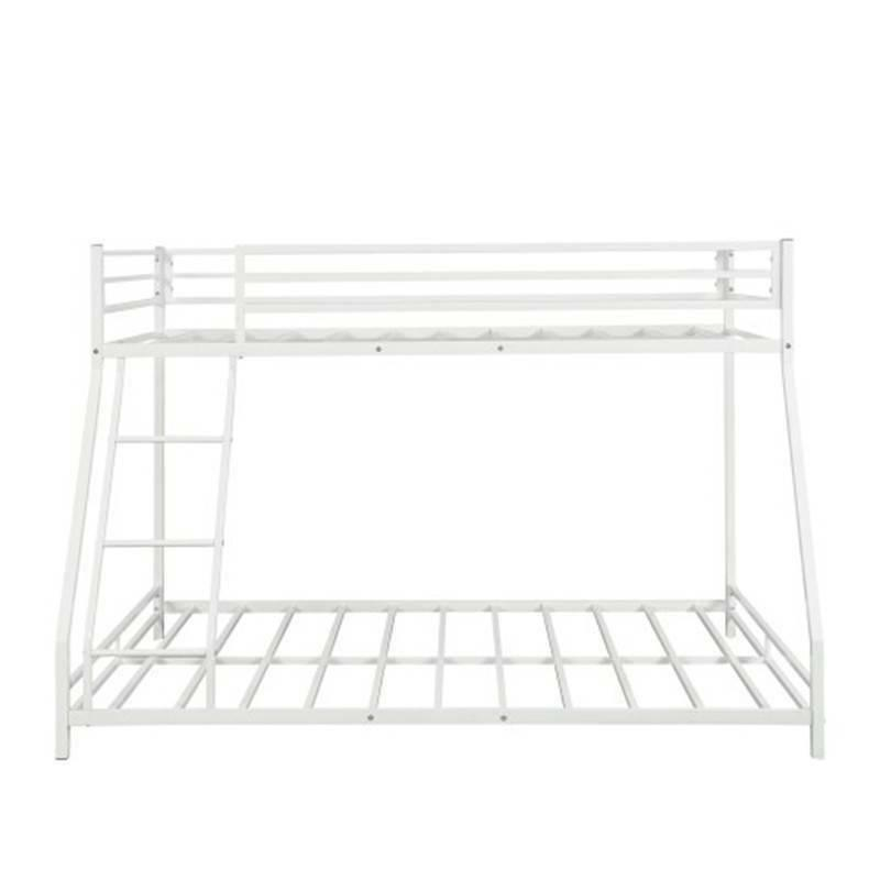 White Metal Twin Bunk Bed Frame Beds Bedroom