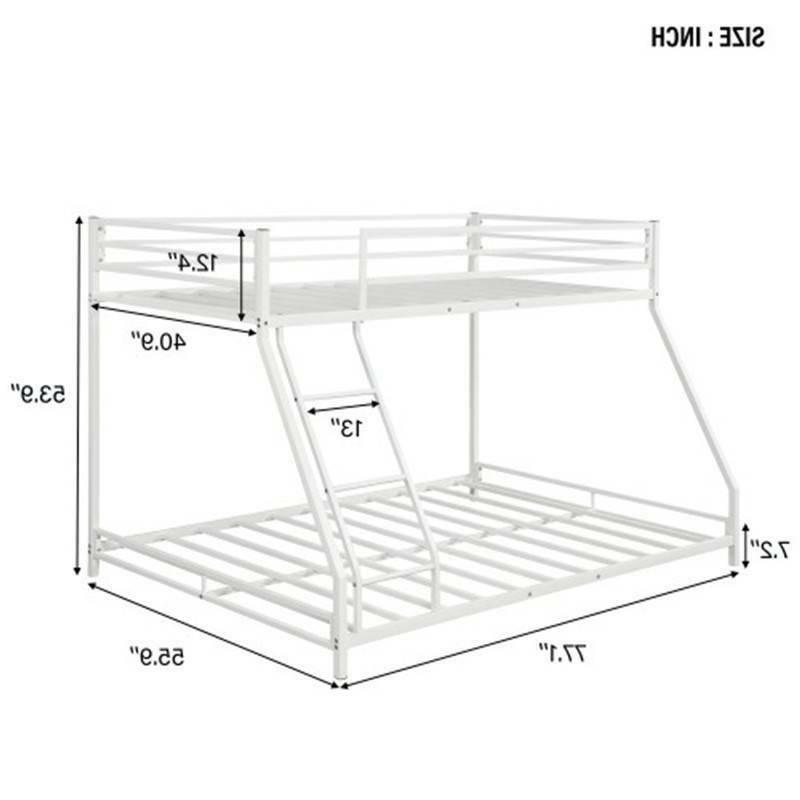 White Twin Over Full Floor Bunk Bed Beds