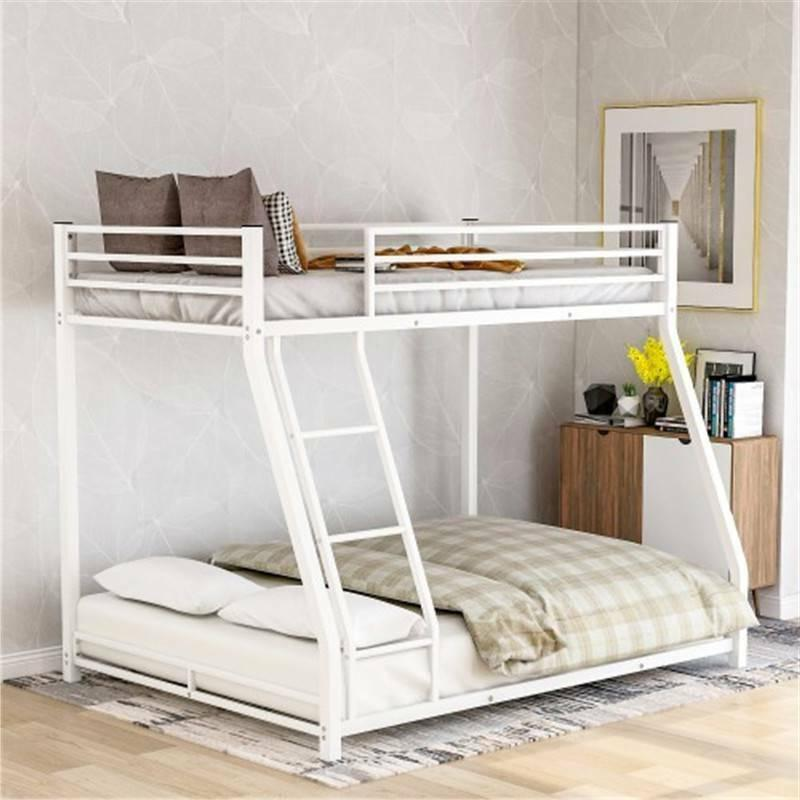 white metal bunk bed twin over full