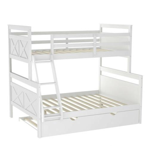 Wood Twin Over Bunk Bed Ladder Guardrail